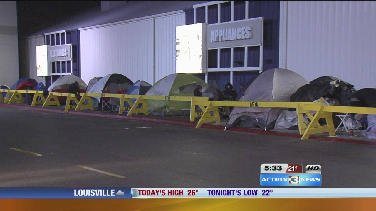 Black Friday Shoppers Camp Out Early For Nebraska