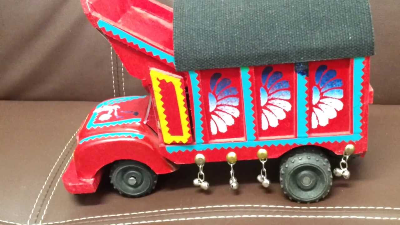 Big asian wooden truck decoration piece youtube for Decoration pieces from waste material
