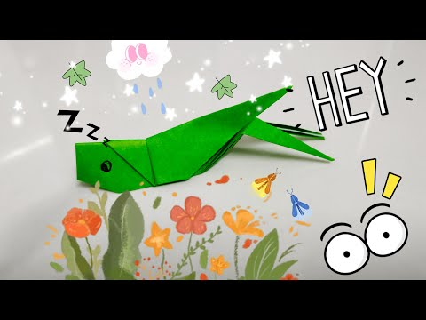 DIY Paper Origami - How to make locusts origami easy 🦗