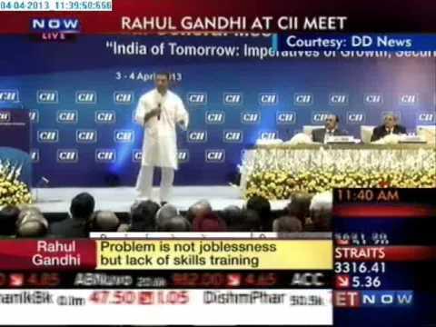 Rahul Gandhi's Speech at  CII Annual Meet  (Full Speech)