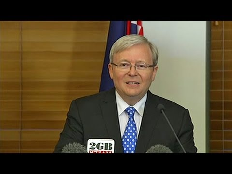 Rudd confirms challenge for Labor leadership