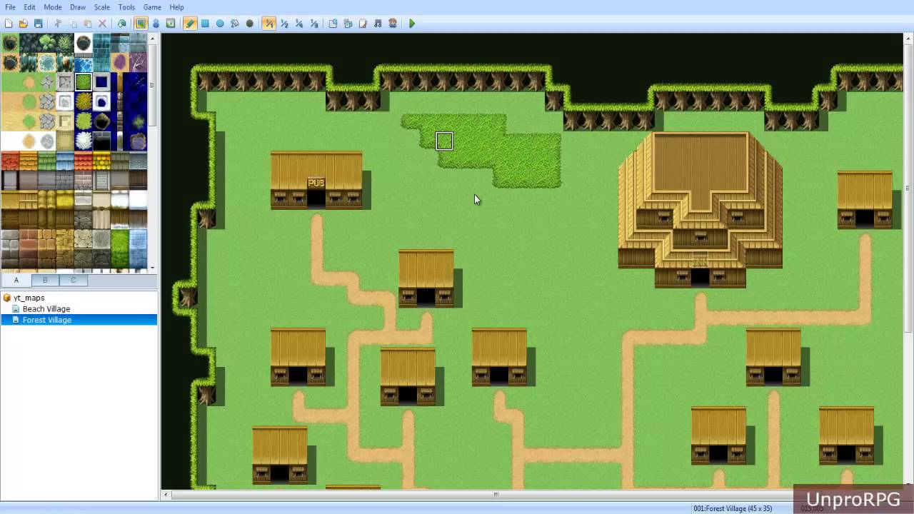 Rpg maker vx ace forest village mapping tutorial youtube for House map creator