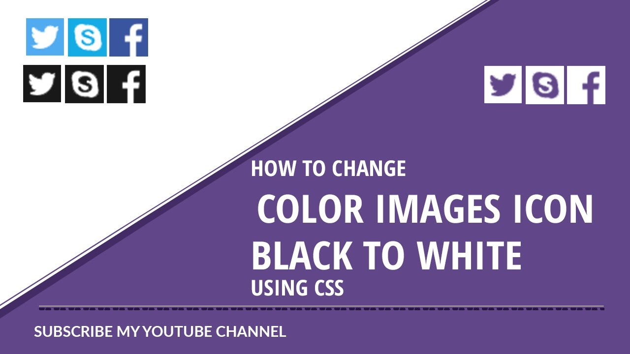 How To Change Image Color On Hover Using Css How To Change Icon Image White To Black Using Css Youtube