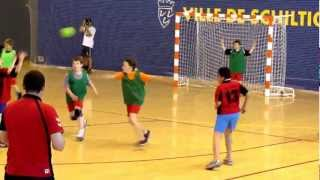 Kids playing handball in strausburg, france