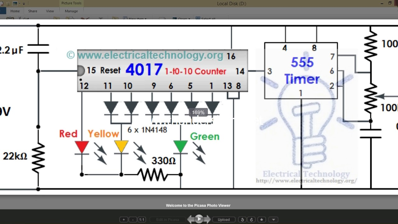 traffic light control project using multisim simulation