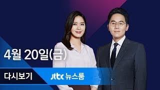 2018년 4월 20일 (금) 뉴스룸 다시보기 - 김경수, 기사 링크 보내고 '보안 메신저' 연락