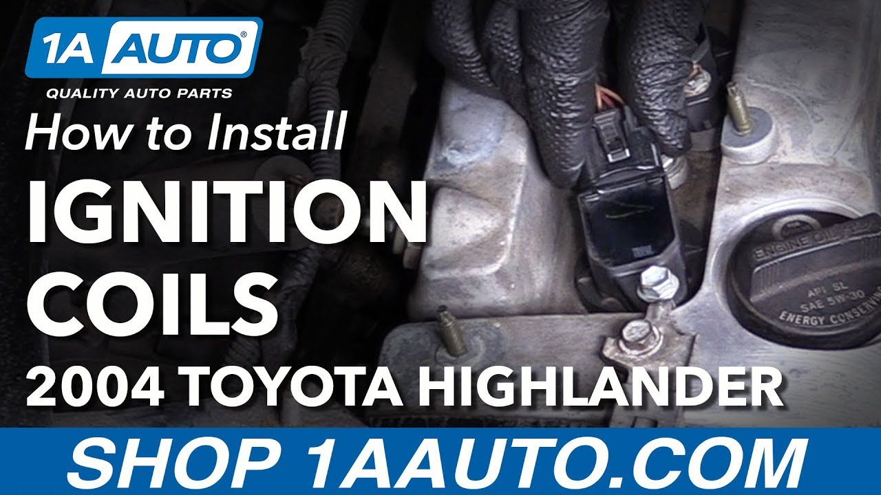 small resolution of how to install replace ignition coils 2004 07 toyota highlander