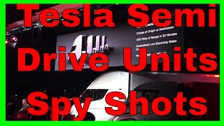 Tesla Semi Drive Units RARE Shots! Kman goes Ninja!