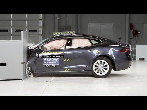 2017 Tesla Model S Small Overlap IIHS Crash Test