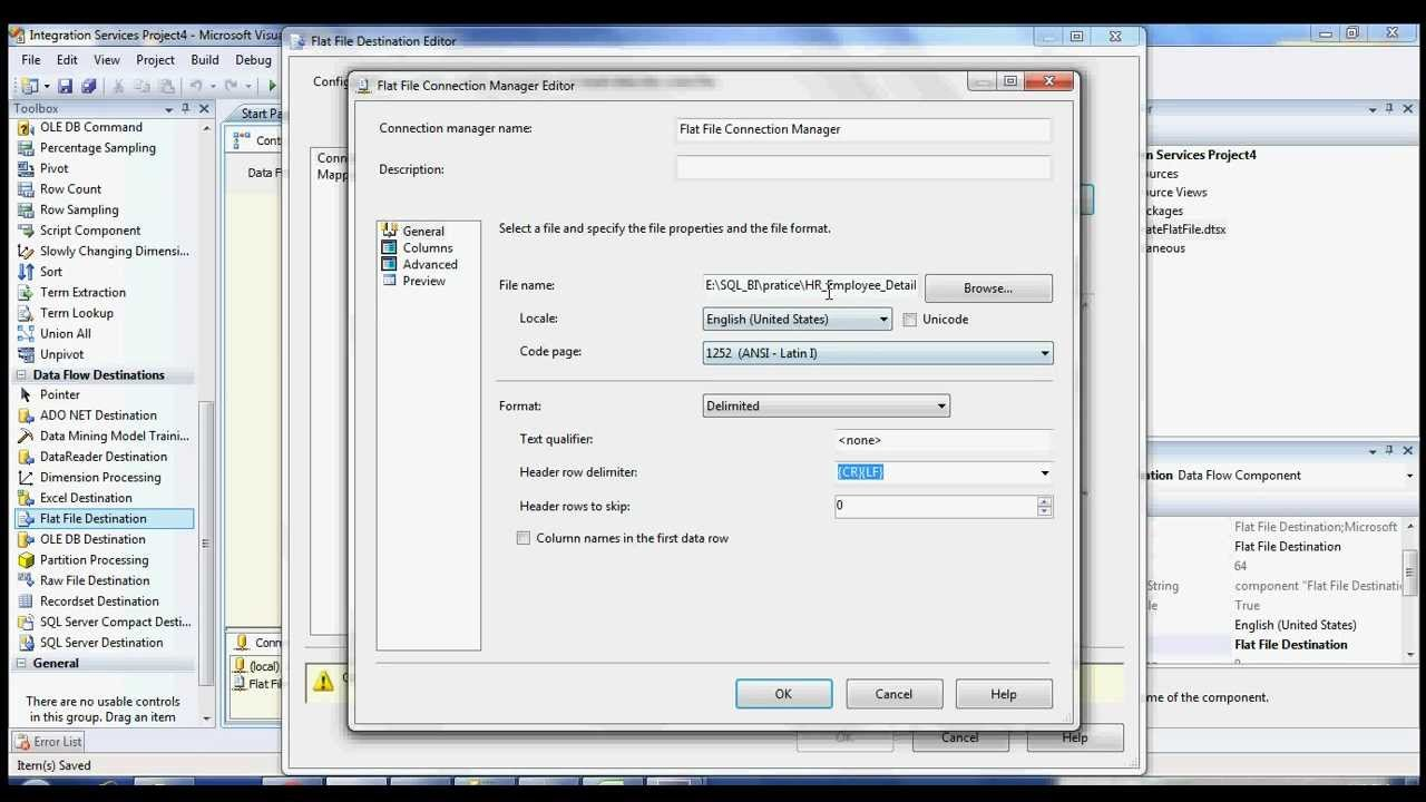 How to create text file and add date dynamically to a text file name in  SSIS - 1 avi