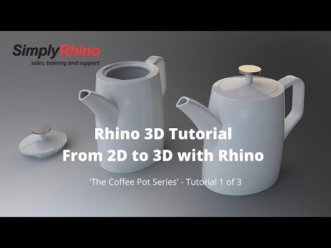 Simply Rhino - Rhino3d Tutorial - From 2D to 3D with Rhino - (1 of 3)