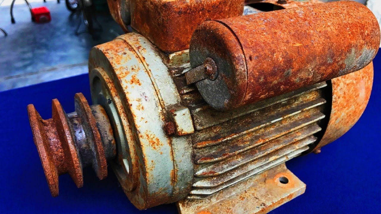 Restoration of old broken 2-phase motors | Restoration of rusted motors