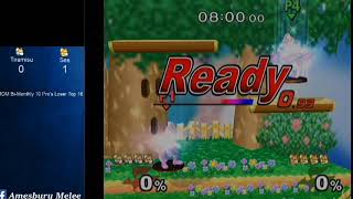MMOM Bi-Monthly 10 SSBM - Tiramisu (Blue Fox) vs. Ses (Default Fox) - Melee LR4 thumbnail