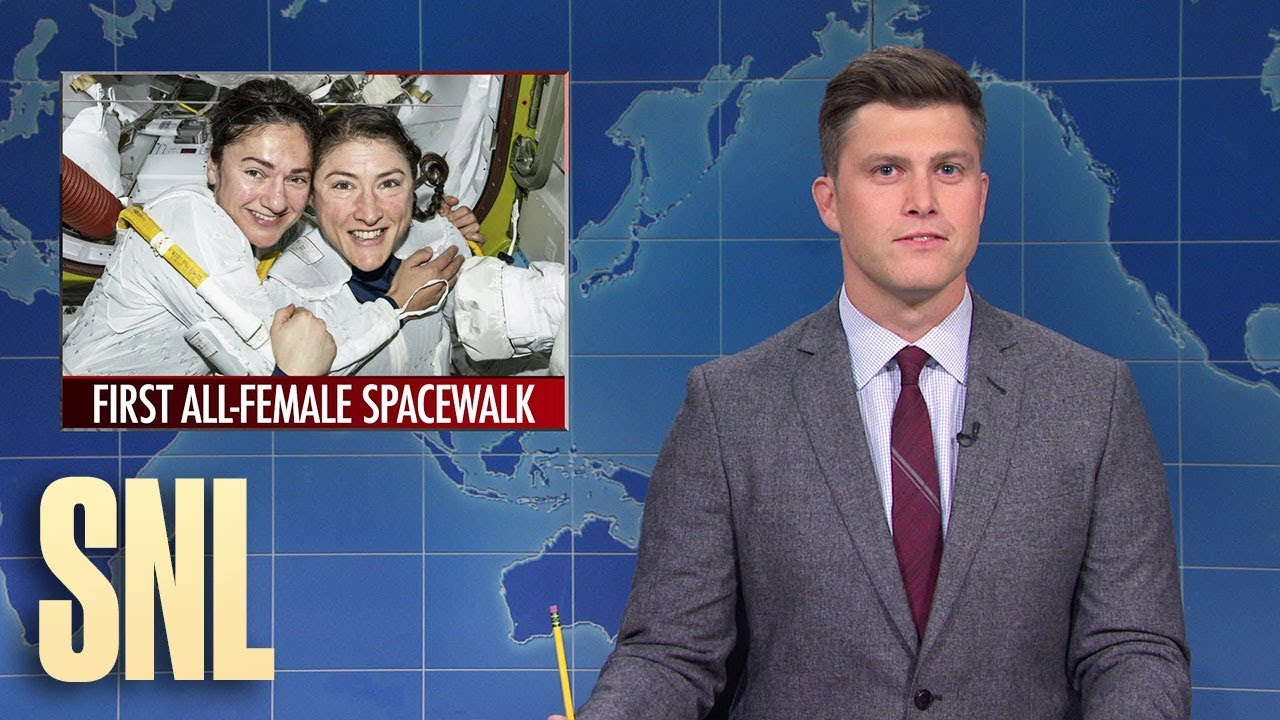 Weekend Update: First All-Female Space Walk Makes History - SNL