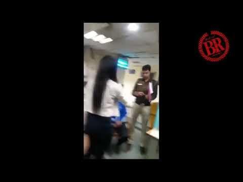Delhi girl drunk#police station# Full on drama Queen.....