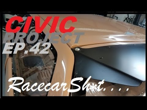 ( Drag wing Install ) EF Civic project ep.42