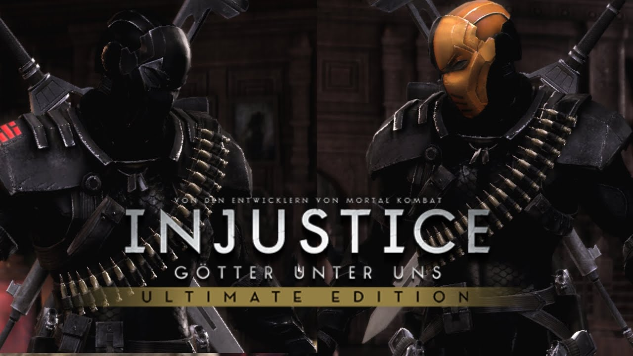 Injustice Ultimate Edition PC Deathstroke Snake Eyes Vs Deathstroke Arrow Season 2 Skin