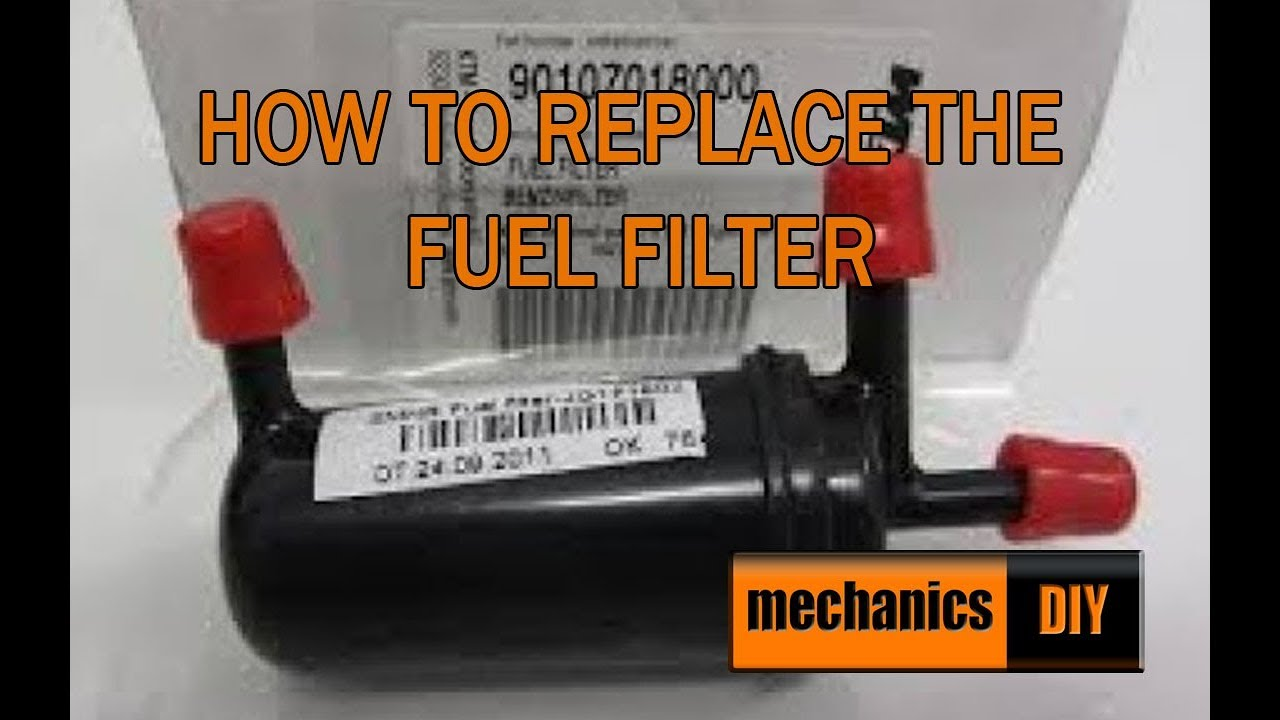 how to replace a fuel filter - ktm duke