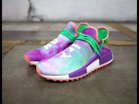 432f8866c4eec Adidas x Pharrell Williams NMD Hu Trail  Holi  Quick Look   On Feet (Chalk  Coral)