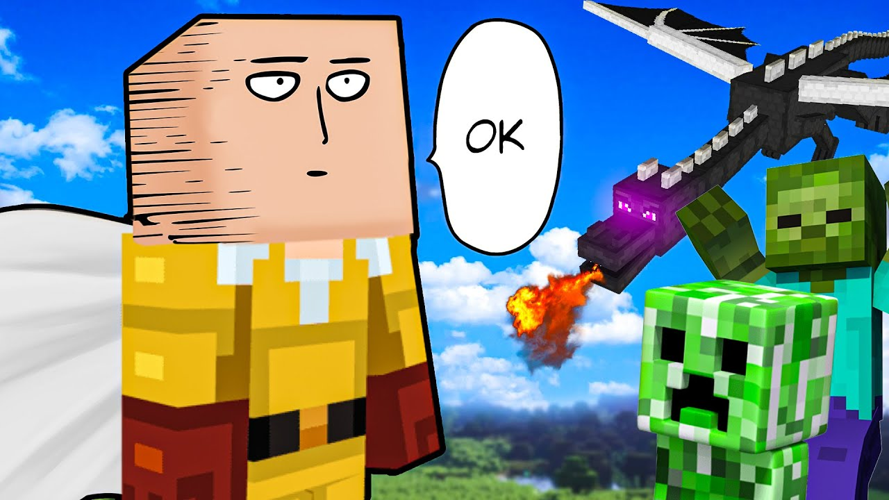 Surviving Minecraft as One Punch Man! (Impossible)