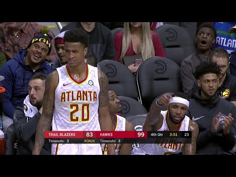 4th Quarter, One Box Video: Atlanta Hawks vs. Portland Trail Blazers