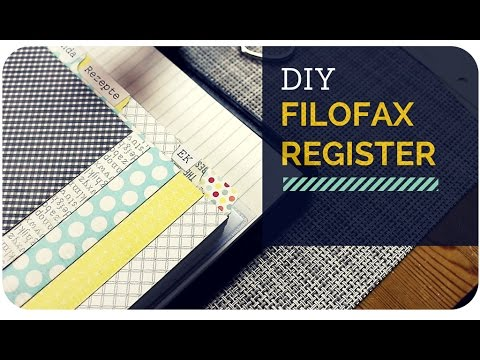 diy filofax register selbermachen youtube. Black Bedroom Furniture Sets. Home Design Ideas