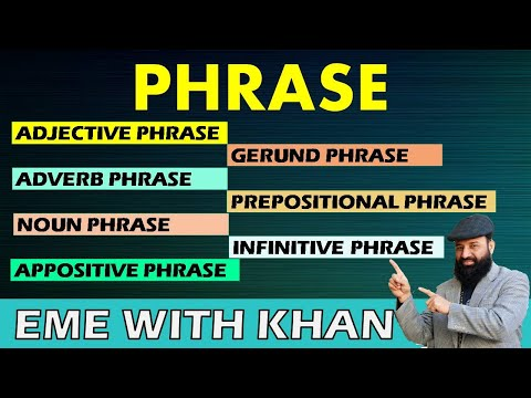 phrase   types of phrase   what is phrase? All kinds of phrases explained with examples