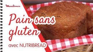 Recette du pain maison sans gluten avec Nutribread