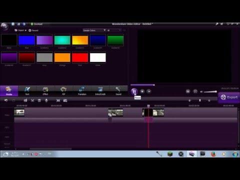 شرح كامل لـ برنامج المونتاج WonderShare Video Editor بالتفصيل الممل