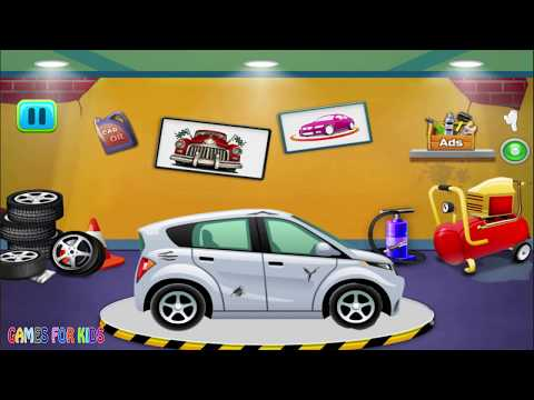 Car Repair Mechanic Workshop – Car Wash Garage – Videos For Children For Toddlers For Babys