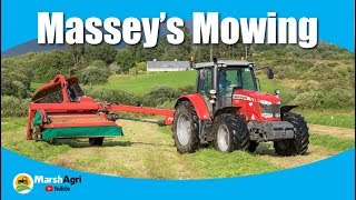 masseys mowing second cut silage 2017 hd drinagh west cork ireland