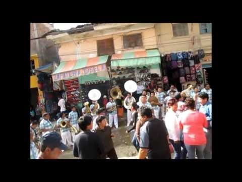 Peruvian street party music in the mountains of Huaraz
