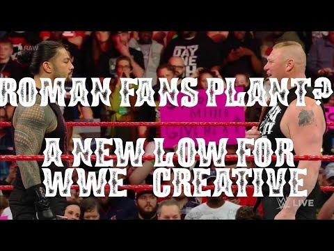 WWE PLANTS ROMAN REIGNS FANS?!?