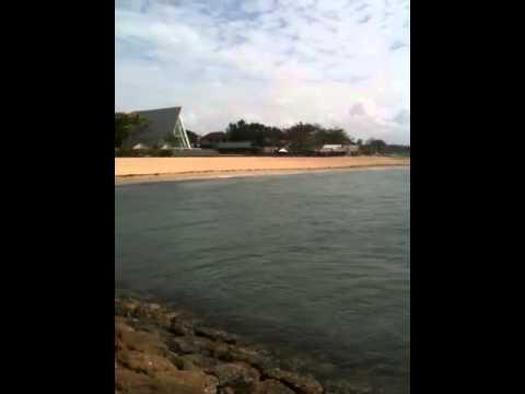 Shore of Conrad Hotel in Bali