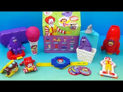 2014 McDonalds Ronald And Friends Back To School Happy Meal Set Of 8 Toys Video Review
