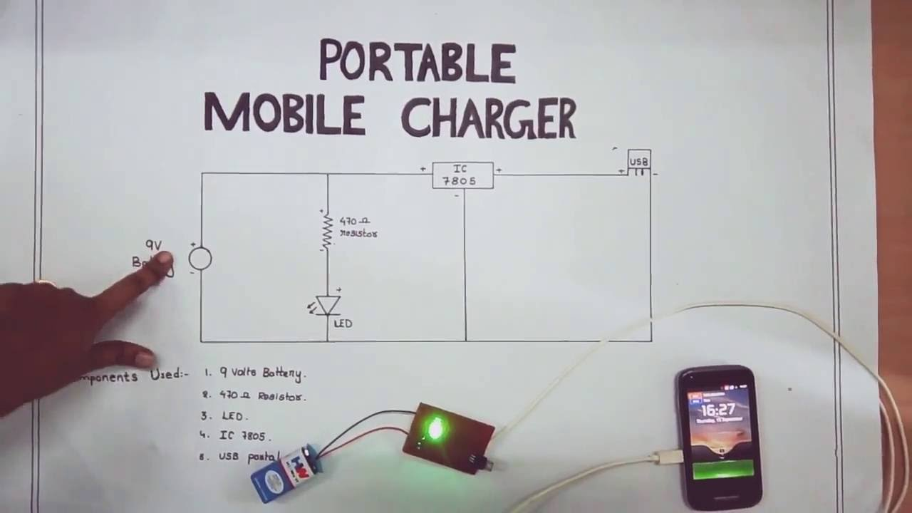 portable mobile charger circuit diagram [ 1280 x 720 Pixel ]