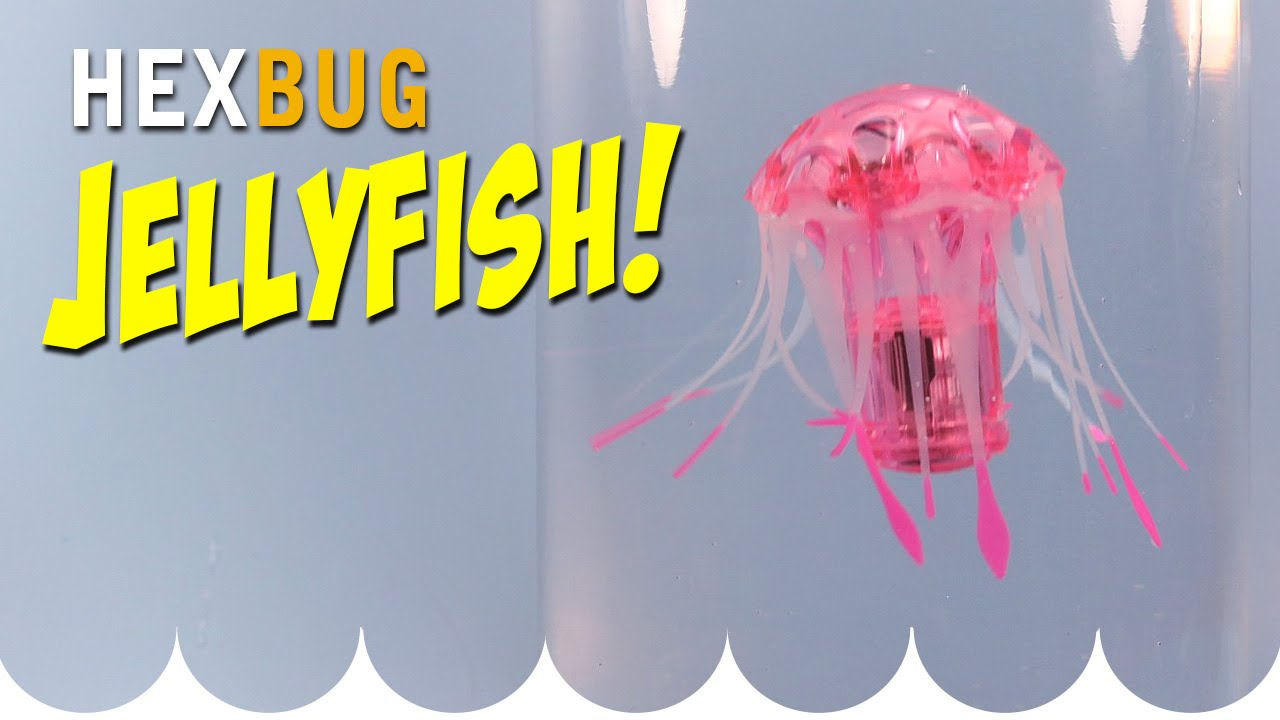 Hexbug jellyfish aquabot smart fish technology opening for Aquabot smart fish