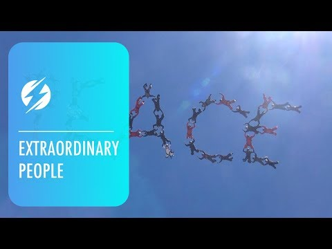 Skydivers Spell 'Peace' In Sky To Inspire Others