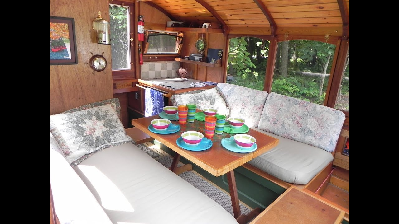 houseboat dianne s rose interior youtube