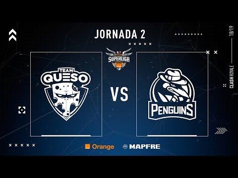 TEAM QUESO VS PENGUINS | SUPERLIGA ORANGE CLASH ROYALE | JORNADA 2