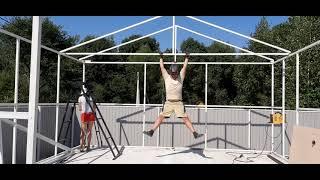 Строим гараж 5,5*7м с навесом своими руками. Часть 4. Строим крышу.