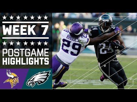 Vikings vs. Eagles | NFL Week 7 Game Highlights