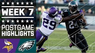 Vikings vs. Eagles | NFL Week 7 Game Highlights