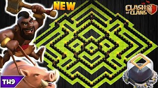 NEW TOWN HALL 9 FARMING/TROPHY BASE 2017! TH9 HYBRID DARK BASE WITH REPLAYS!!  -CLASH OF CLANS(COC)