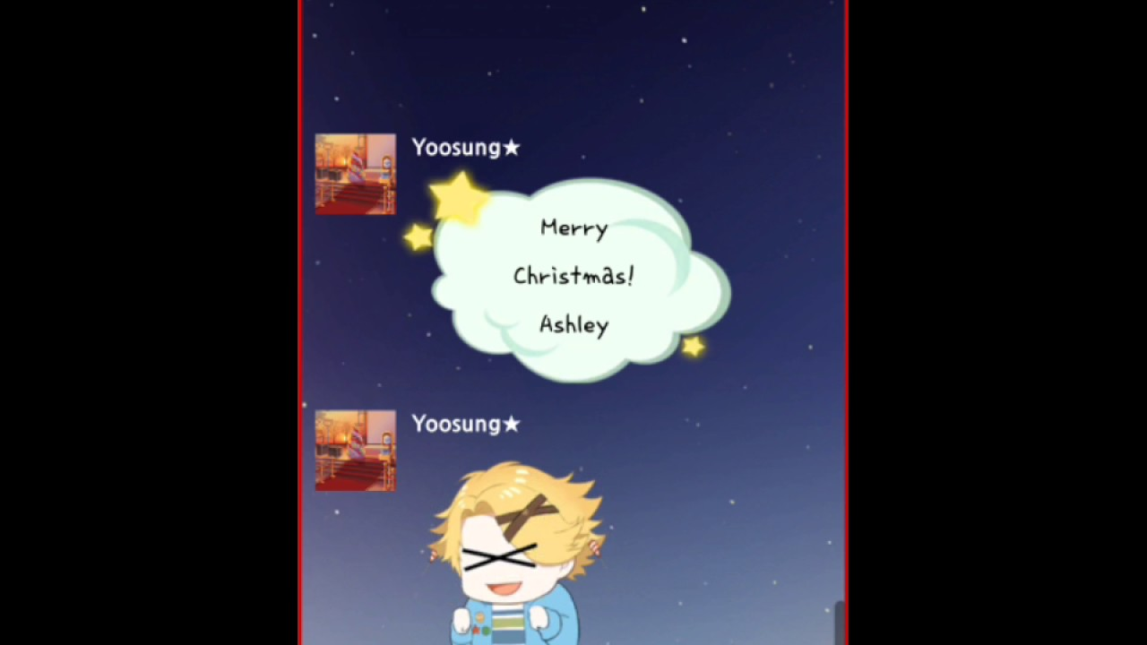 Yoosung S X Mas Memory Chat Fourteen Mystic Messenger Christmas