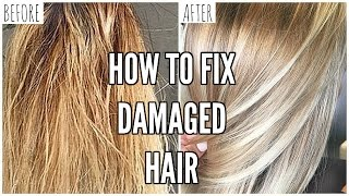 How Fix Extremely Damaged Hair Home