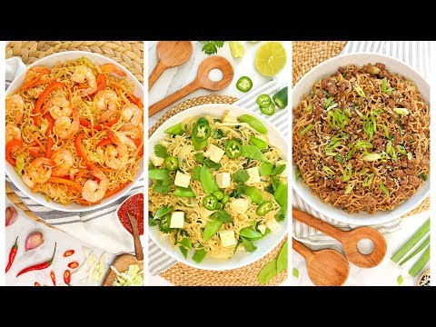 3 Easy Ramen Noodle Recipes | 20 Minute Dinner Ideas