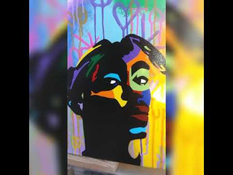 TUPAC GRAFFITI ART 🎨🔥 REBEKAH DANIELLE ART