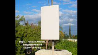 AT 403 Antop Outdoor and Indoor HDTV Antenna Flat Panel