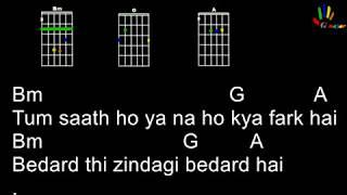 Agar Tum Saath Ho guitar chords and tutorial (play along) (Tamasha)